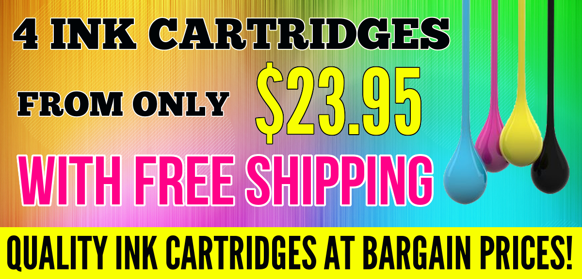 Free shipping with all ink cartridge combo packs, guest checkout available