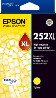 Genuine Epson 252XL Yellow Ink Cartridge