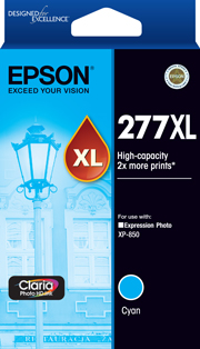 Genuine Epson 277XL High Capacity Cyan Ink Cartridge