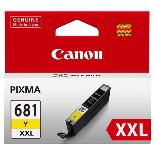 Genuine Canon CLI681XXL Yellow Ink Cartridge