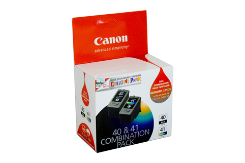 2 Pack Combo Genuine Canon PG40 & CL41 (1BK/1C) ink cartridges