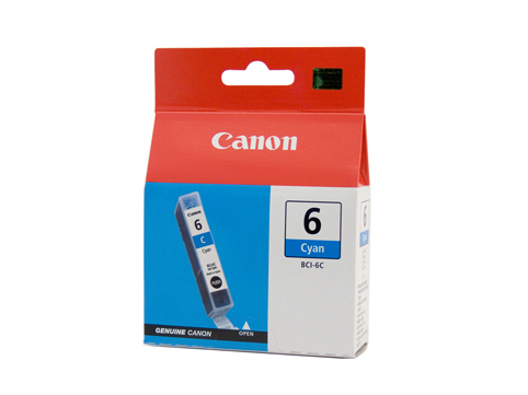 Genuine Canon BCI-6C (Cyan) ink cartridge