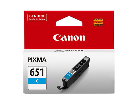 Genuine Canon CLI651 Cyan ink cartridge