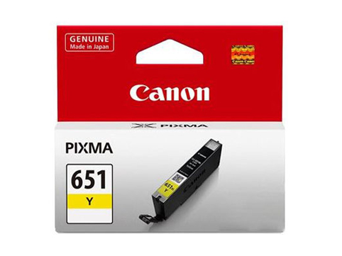 Genuine Canon CLI651 Yellow ink cartridge
