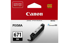 Genuine Canon CLI671 Black Ink Cartridge