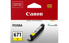 Genuine Canon CLI671 Yellow Ink Cartridge