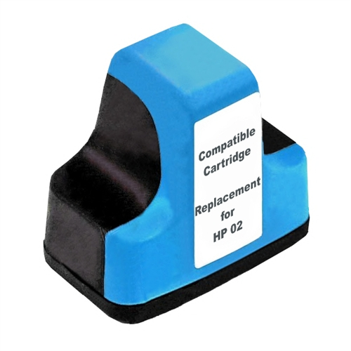 Compatible HP02 Cyan ink cartridge