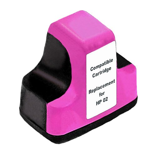 Compatible HP02 Magenta ink cartridge