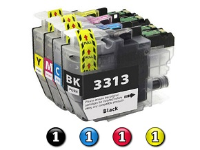 Compatible Brother LC3311 (LC3313) ink cartridges 4 Pack Combo (1BK/1C/1M/1Y)