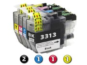 Compatible Brother LC3311 (LC3313) ink cartridges 5 Pack Combo (2BK/1C/1M/1Y)