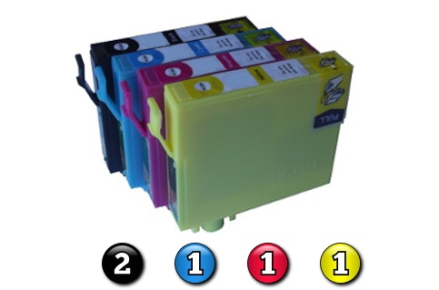 5 Pack Combo Compatible Epson 140 (2BK/1C/1M/1Y) ink cartridges