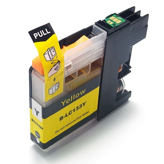 Compatible Brother LC133 Yellow ink cartridge