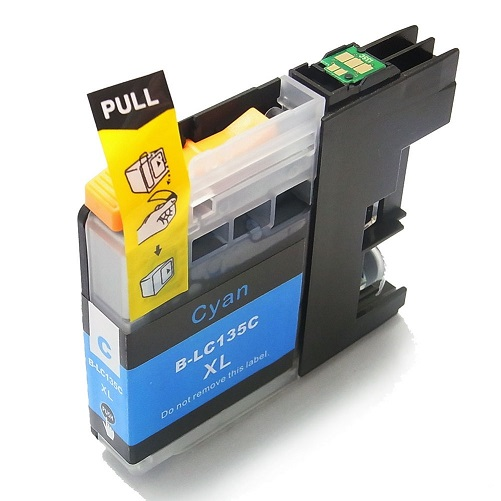 Compatible Brother LC135XL Cyan ink cartridge