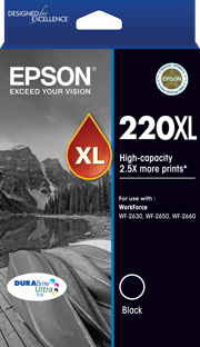Genuine Epson 220XL Black Ink Cartridge