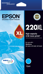 Genuine Epson 220XL Cyan Ink Cartridge