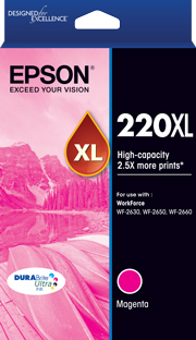 Genuine Epson 220XL Magenta Ink Cartridge
