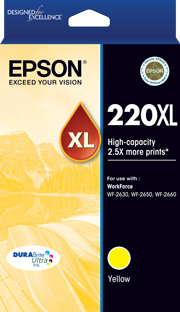 Genuine Epson 220XL Yellow Ink Cartridge