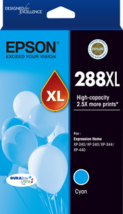Genuine Epson 288XL Cyan Ink Cartridge