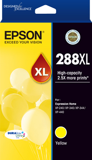 Genuine Epson 288XL Yellow Ink Cartridge
