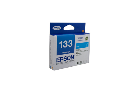 Genuine Epson 133 Cyan ink cartridge