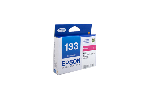 Genuine Epson 133 Magenta ink cartridge