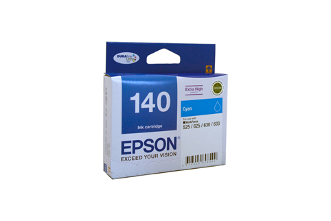Genuine Epson 140 Cyan ink cartridge