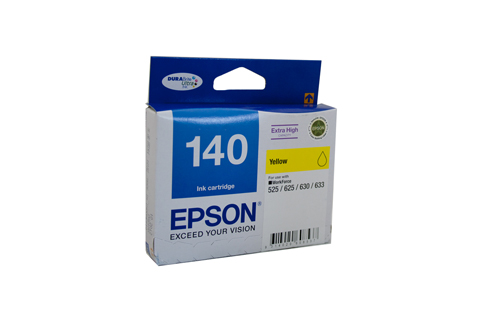 Genuine Epson 140 Yellow ink cartridge