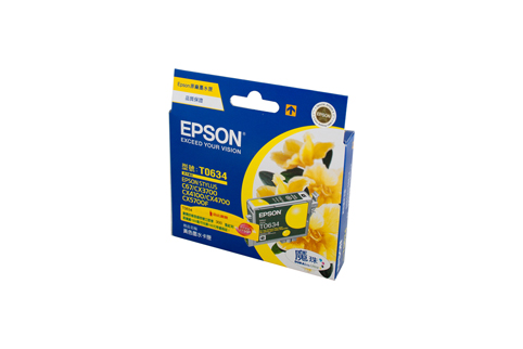 Genuine Epson T0634 (Yellow) ink cartridge