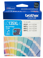 Genuine Brother LC135XL C (Cyan) ink cartridge