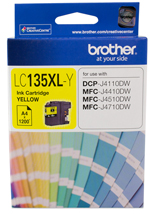 Genuine Brother LC135XL Y (Yellow) ink cartridge