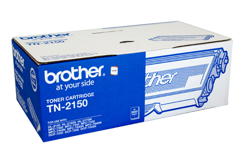 Genuine Brother TN2150 Black Toner Cartridge
