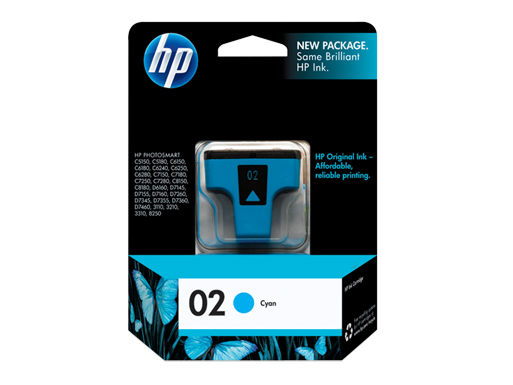 Genuine HP02 Cyan ink cartridge (C8771WA)