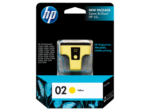 Genuine HP02 Yellow ink cartridge (C8773WA)