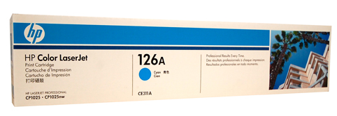 Genuine HP 126A (CE311A) Cyan toner cartridge