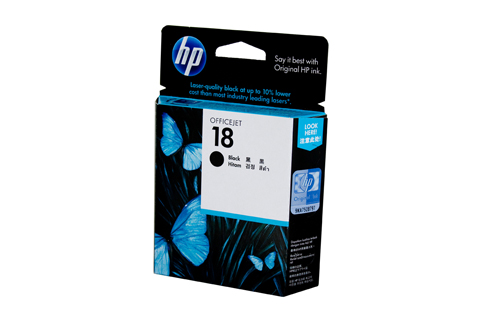 Genuine HP18 Black ink cartridge (C4936A)