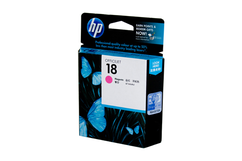 Genuine HP18 Magenta ink cartridge (C4938A)