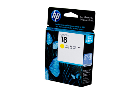 Genuine HP18 Yellow ink cartridge (C4939A)