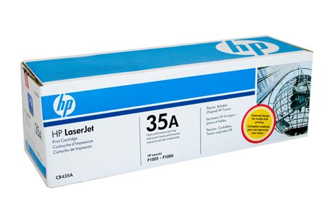 Genuine HP35A Black toner cartridge (CB435A)