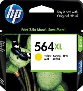 Genuine HP564XL Yellow High Capacity ink cartridge (CB325WA)