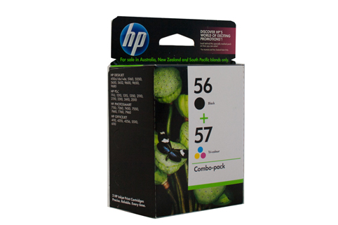 2 Pack Combo Genuine HP56/HP57 (1BK/1COL) ink cartridges