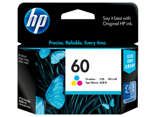 Genuine HP60 Colour ink cartridge (CC643WA)