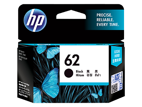 Genuine HP62 Black Ink Cartridge (C2P04AA)