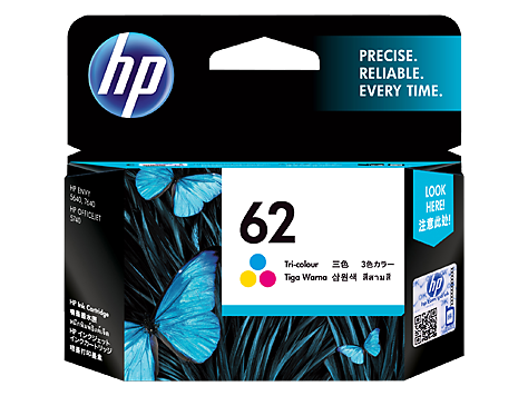 Genuine HP62 Tri Col Ink Cartridge (C2P06AA)