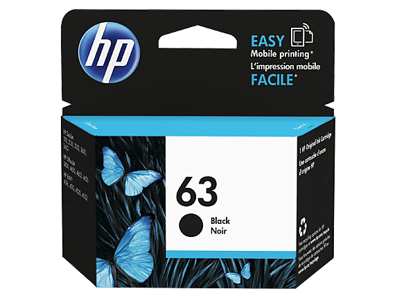 Genuine HP 63 Black Ink Cartridge (F6U62AA)