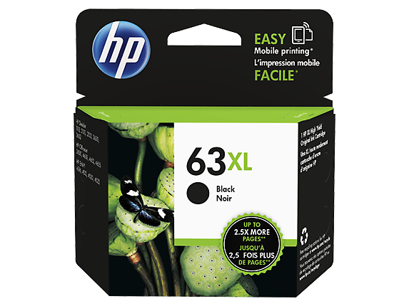 Genuine HP 63XL Black Ink Cartridge (F6U64AA)