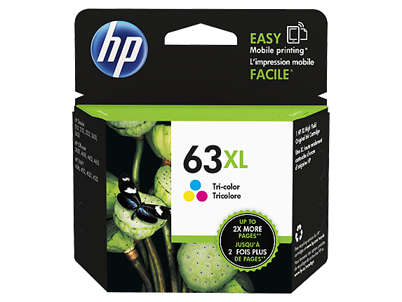 Genuine HP 63XL Tri Col Ink Cartridge (F6U63AA)