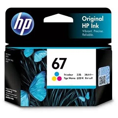 Genuine HP 67 Colour Ink Cartridge