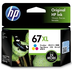 Genuine HP 67XL Colour Ink Cartridge