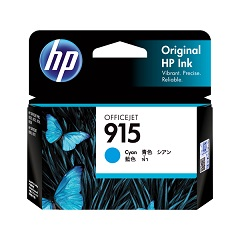 Genuine HP 915 Cyan ink cartridge