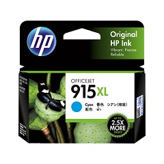 Genuine HP 915XL Cyan ink cartridge